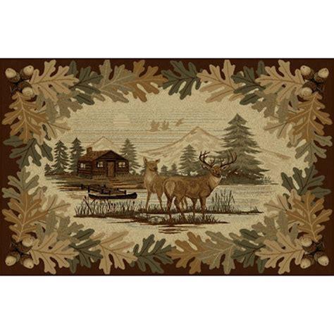 oakwood deer area rugs