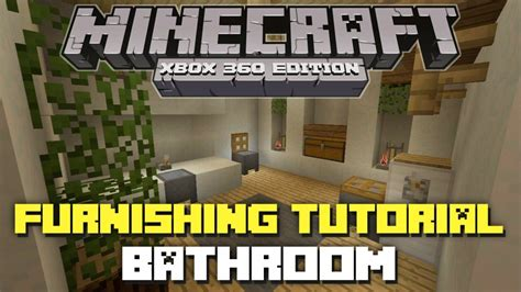 how to make a bathroom in minecraft xbox 360 minecraft xbox 360 furnishing tutorial episode 4
