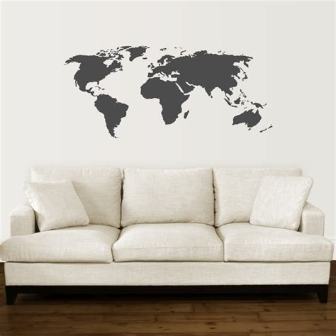 World Wall Decor by World Map Wall Quotes Wall Decal Wallquotes