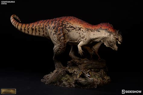 The Dinosauria dinosauria ceratosaurus statue by sideshow collectibles