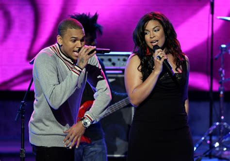 Jordin Sparks And Chris Brown On The Set Of No Air by Jordin Sparks Airs Out Chris Brown Rihanna S Business