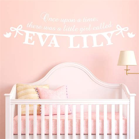 wall stickers name personalised s name wall sticker by megan