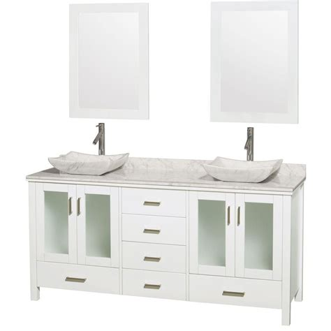 Bathroom Vanities Prices Wyndham Collection Vanity In White With Top In Carrara White Carrara Sinks And 24