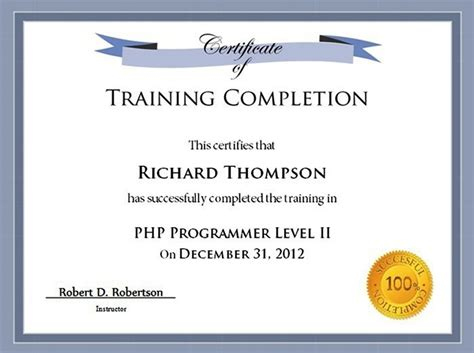 training certificate template doliquid