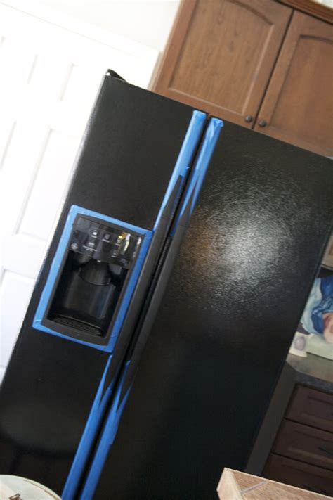 chalkboard paint on fridge diy painting your fridge with chalkboard paint the