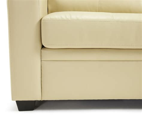 4ft sofa bed turin cream faux leather 112cm sofa bed just 4ft beds