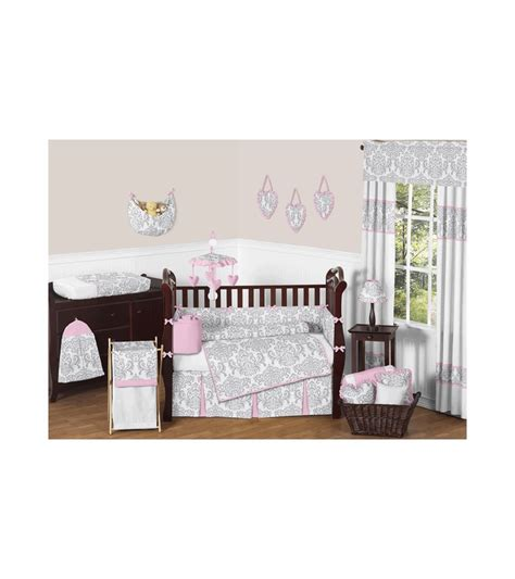 Jojo Crib Bedding Set Sweet Jojo Designs Elizabeth Grey Pink 9 Crib Bedding Set