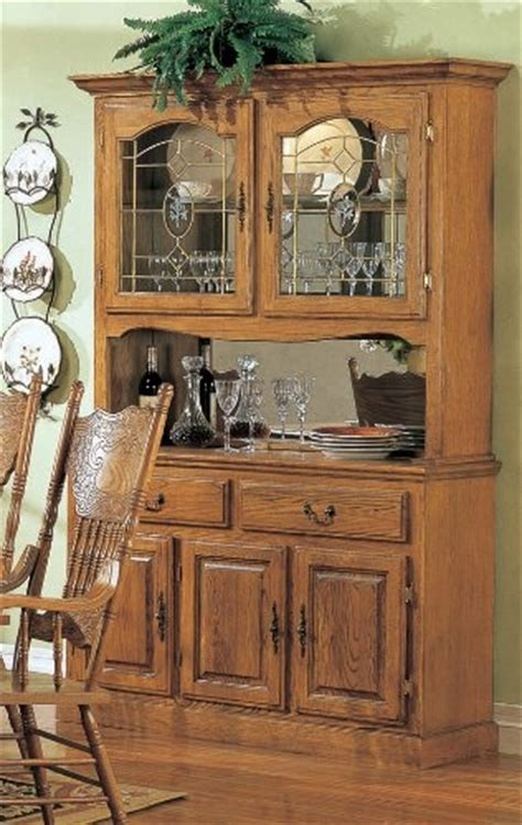 Oak Dining Room Hutch And Buffet Country Style Solid Oak Wood Dining Room Buffet With Hutch