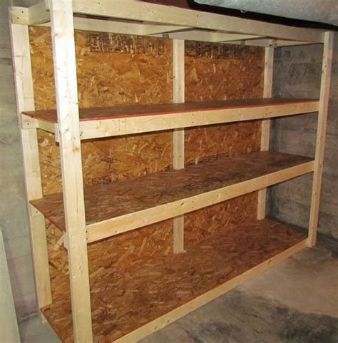 basement storage shelf design plans wood plans