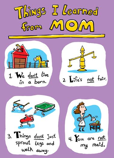 printable birthday cards mom funny funny birthday ecard quot things i learned from mom birthday