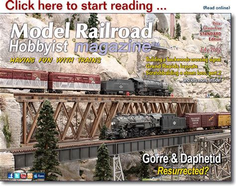 model railroad hobbyist magazine model trains model mrh 2012 07 july 2012 model railroad hobbyist magazine