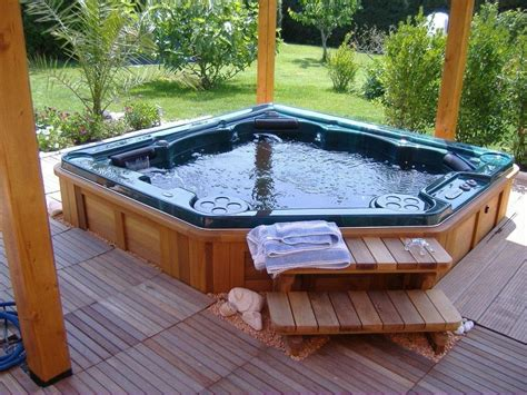 patio tub tubs backyard design ideas