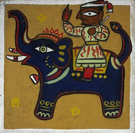bengali elephant indian art paintings jamini roy paintings indian artwork