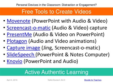jing tutorial powerpoint personal devices in the classroom distraction or engagement