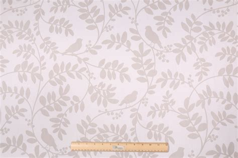 robert allen drapery fabric robert allen bird printed drapery fabric in white
