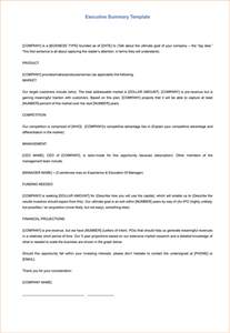 executive summary word template 5 executive summary templates for word pdf and ppt