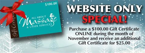 Olg Slots Gift Cards - buy 100 gift card get 25 free at all about massage entertainment sudbury