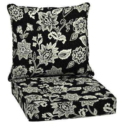 black outdoor cushions patio furniture  home depot