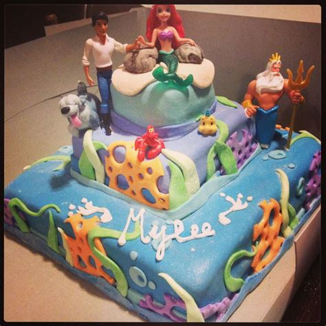 Ariel Cake Decorations by The Mermaid Birthday Cake Cake Decorating