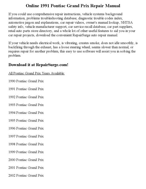 service manuals schematics 1992 pontiac grand prix spare parts catalogs service manual service manuals schematics 1991 pontiac grand prix windshield wipe control