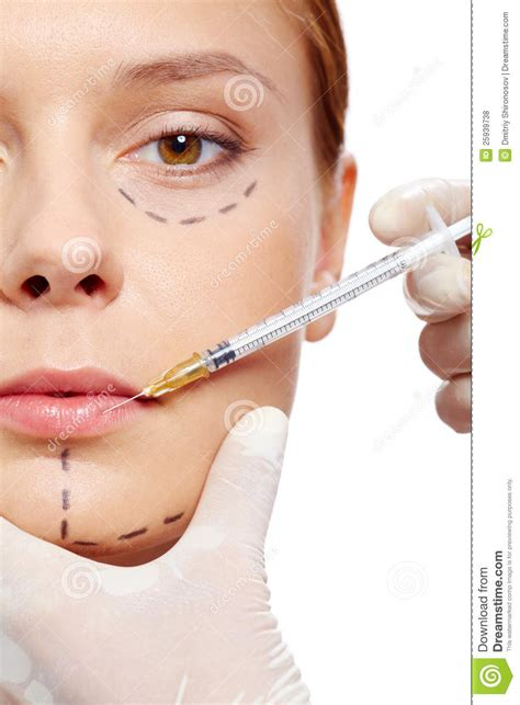 Injection Collagen injection of collagen royalty free stock photos image