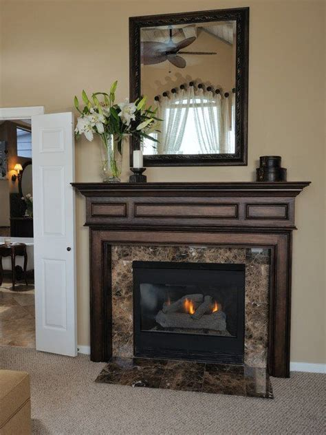 Granite Fireplace Mantel by Emperador Marble Surround Marble And Granite
