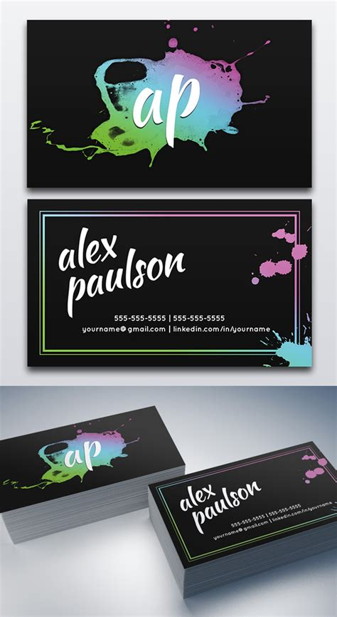 painting business card template psd modern business card psd templates 27 new design design