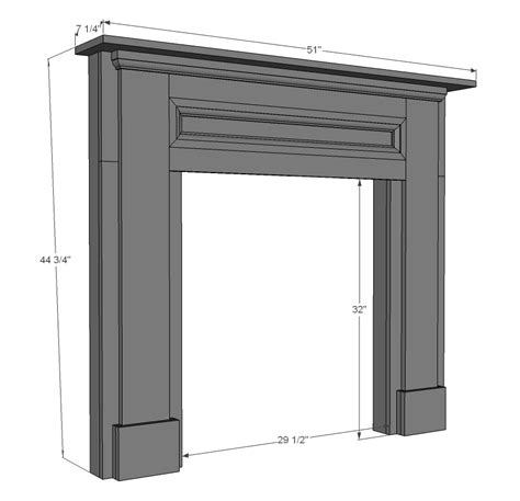 Fireplace Mantel Plans Free by Woodworking Diy Faux Fireplace Mantel And Surround Plans