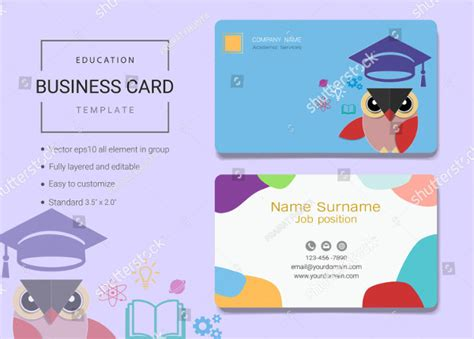 education business card templates 21 business card templates free premium