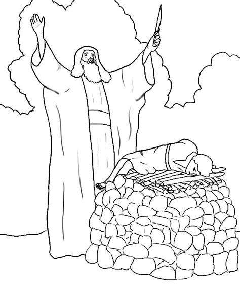 abraham sacrificing isaac pages for coloring coloring pages