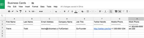 reloading data card template how to scan business cards into a spreadsheet