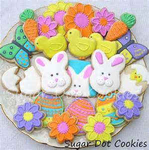 decorated easter cookies i the bright colors and the adorable shapes my