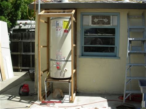 Outdoor Water Heater Shed by A Fair Experience Tbd 20030530 To 20120510