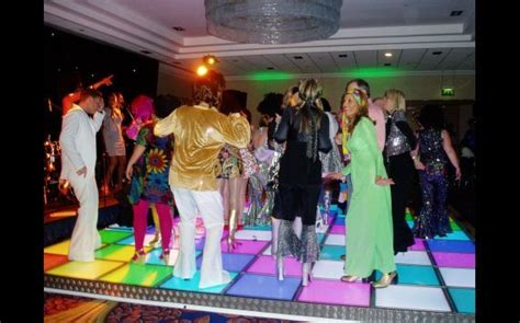 disco themed events led multi coloured dance floor is a must have for any 70 s