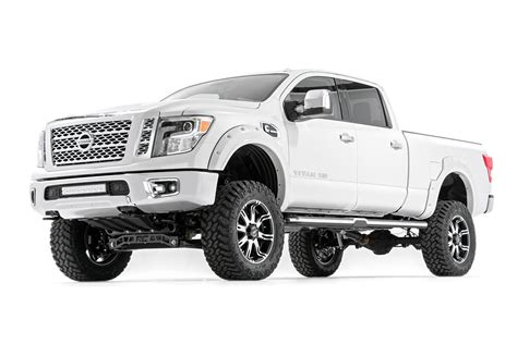 nissan titan xd lifted rough country 6in suspension lift kit 2016 titan xd 4wd