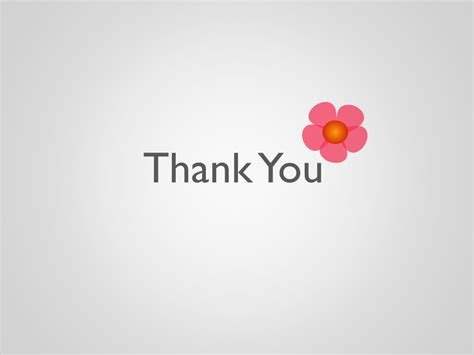 Flower Powerpoint Presentation Moreslides Com Thank You Slide For Ppt Images