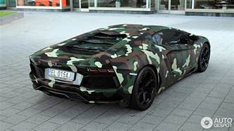 Camo Lamborghini Lamborghini Aventador With Jungle Camouflage Wrap
