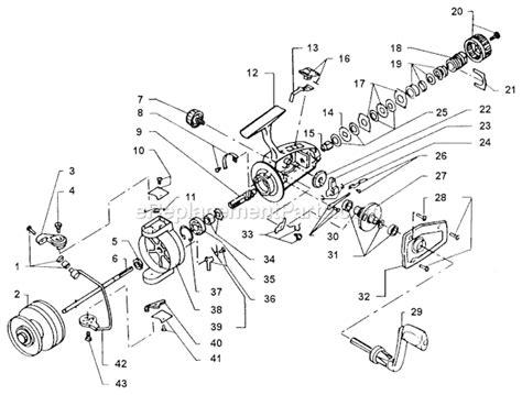 abu garcia reel parts diagram abu garcia 753 parts list and diagram 82 3