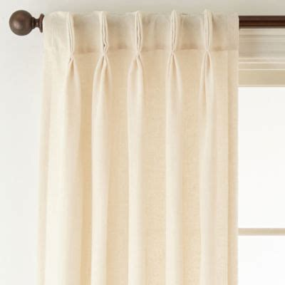 back tab sheer curtains jcpenney home bayview pinch pleat back tab semi sheer