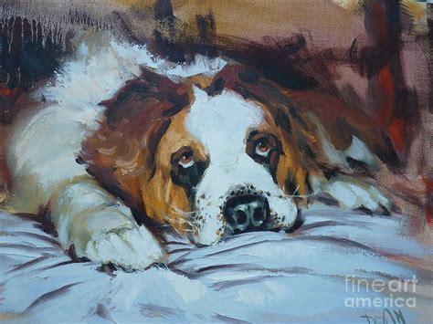 st bernard painting by bill dean