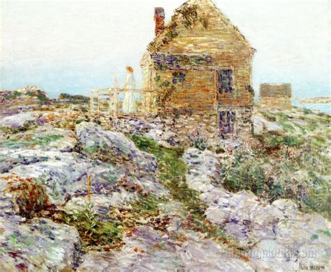 Cottage Frederick by The Cottage Frederick Childe Hassam Paintings