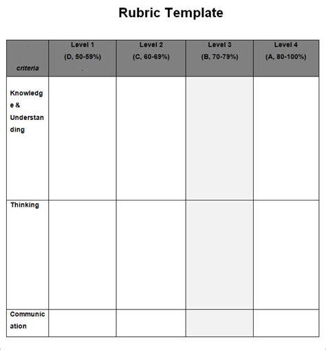 Blank Rubric Template Rubric Template Free Premium Templates Grading Rubric Template