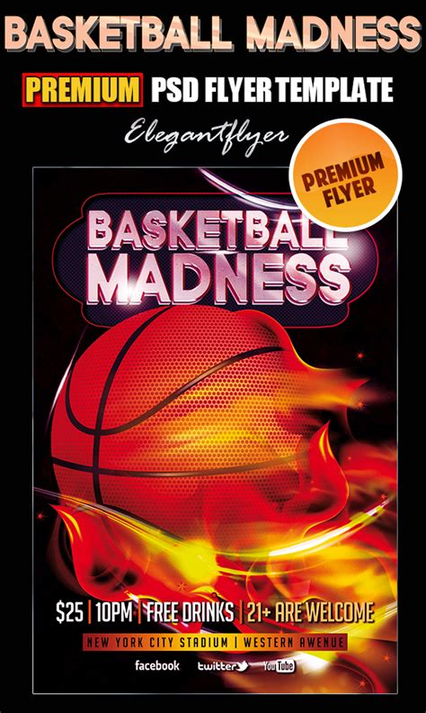 13 Basketball Psd Flyer Templates Images Basketball Flyer Template Basketball Game Flyer Free Basketball Photoshop Templates