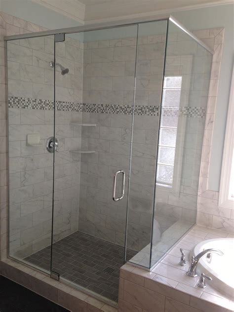 Bathroom Frameless Glass Shower Doors Frameless Glass Shower Doors 38u2033 Frameless Shower Enclosure With U Channel U Channel
