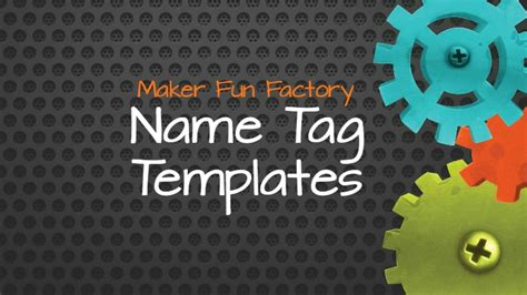 Name Template Maker by Name Tag Templates Maker Factory Vbs Borrowed
