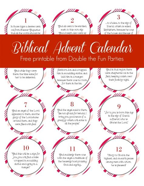 free biblical advent calendar printable