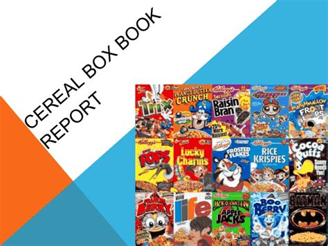 cereal box book report sles flowers for algernon project