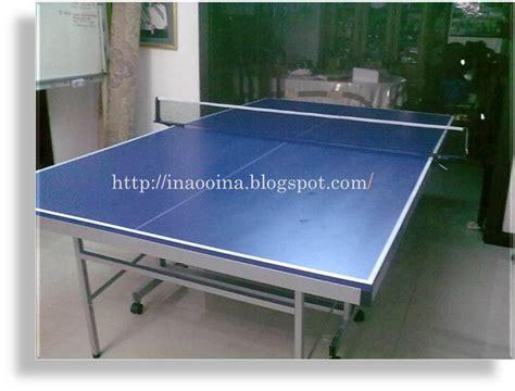 Meja Pingpong Baru c k ina punya meja ping pong baru