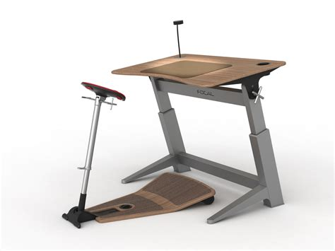Standing And Sitting Desk Focal Upright Furniture S Half Sitting Half Standing Desk Equal Parts Dorky Hilarious Photos