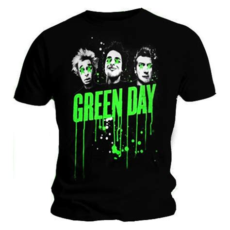 Kaos Band Rock Green Day Uno Dos Tre Gd16 official t shirt green day uno dos tre album band drips all sizes ebay